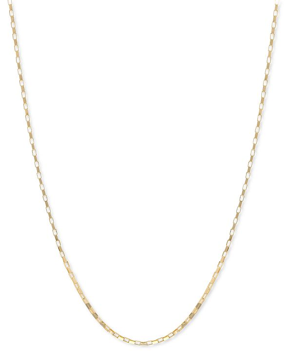 """Macy's 14k Gold Necklace, 18"""" Open Box Chain (3/4mm)"""