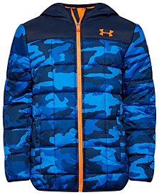 Big Boys Magnus ColdGear® Puffer Camo-Print Hooded Jacket