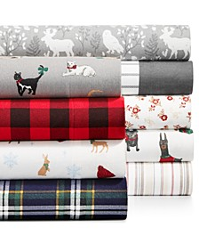 Printed Cotton Flannel Sheet Sets, Created for Macy's