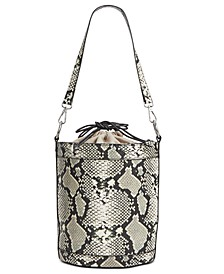 INC Ajae Snake Bucket Bag, Created for Macy's