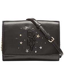 Krescent Leather Stud Clutch Crossbody, Created for Macy's