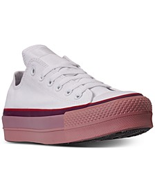 Women's Chuck Taylor x OPI All Star Platform Low Top Casual Sneakers from Finish Line
