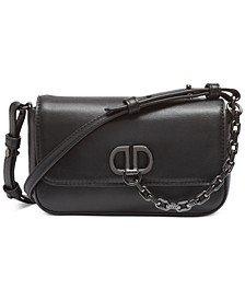 Linton Flap Demi Leather Crossbody, Created for Macy's