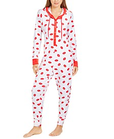 Hooded One Piece Printed Pajama, Created For Macy's
