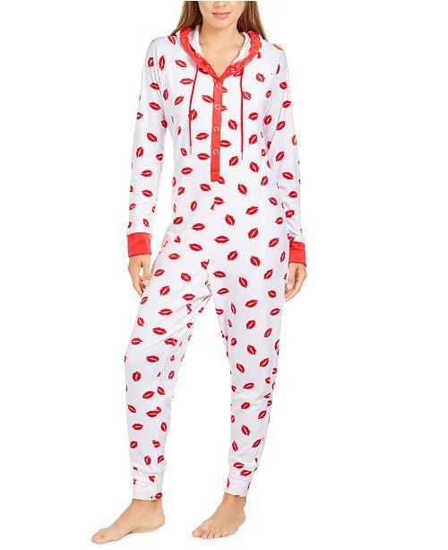 Jenni Hooded One Piece Printed Pajama, Created For Macy's