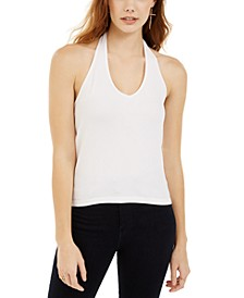 Juniors' Rib-Knit Halter Top