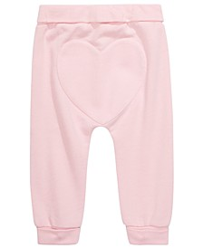 Baby Girls Heart-Back Jogger Pants, Created for Macy's