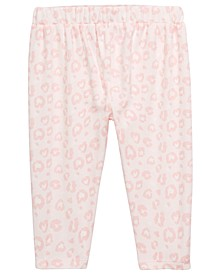 Baby Girls Leopard-Print Cotton Pants, Created For Macy's