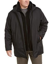 Men's Big & Tall Ripstop Jacket with Fleece Bib