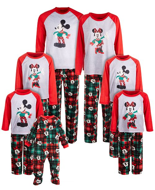 AME Family Mickey Mouse & Minnie Mouse Pajama Sets