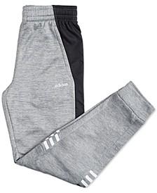Big Boys Mélange Fleece Colorblocked Jogger Pants