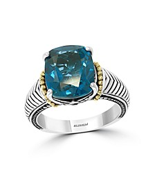EFFY® Blue Topaz (3-1/2 ct.t.w.) Ring in 18k Yellow Gold and Sterling Silver
