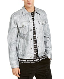 Men's Dillon Ski Logo Denim Jacket with Coating
