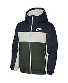 Men's Sportswear Colorblocked Fleece-Lined Zip Jacket