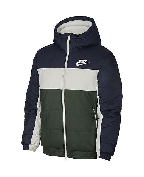 Nike Men's Sportswear Colorblocked Fleece-Lined Zip Jacket