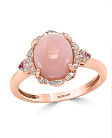 EFFY® Pink Opal (2 5/8 ct.t.w.) and Diamond (1/10 ct.t.w.) Ring in 14K Rose Gold