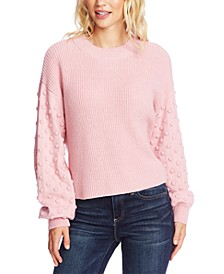 Bobble-Sleeve Sweater