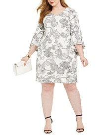 Plus Size Paisley-Print Sheath Dress