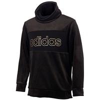 adidas Big Girls Velour Funnel-Neck Sweatshirt