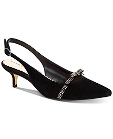 Women's Gilaa Bling Bow Slingback Pumps, Created for Macy's