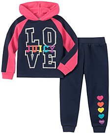 Little Girls 2-Pc. Love Hoodie & Jogger Pants Set