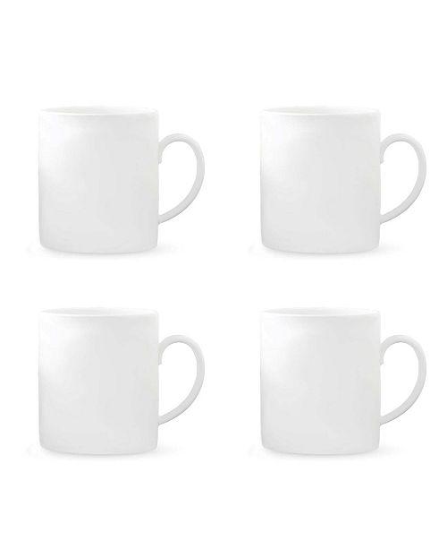 Vera Wang Wedgwood Perfect White Set/4 Mugs