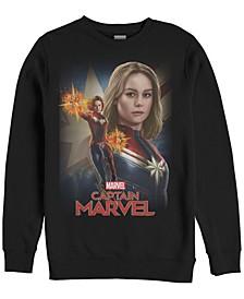 Men's Captain Marvel American Poster, Crewneck Fleece