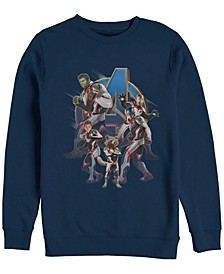 Men's Avengers Endgame Suit Group, Crewneck Fleece