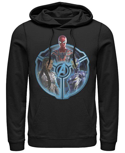 Marvel Men's Avengers Endgame Triple Hero Wheel, Pullover Hoodie