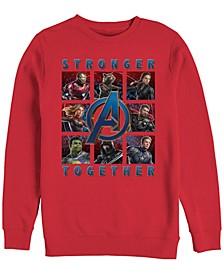 Men's Avengers Endgame Stronger Together Boxes, Crewneck Fleece