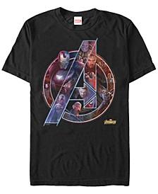 Men's Avengers Endgame Neon Heros Logo, Short Sleeve T-shirt