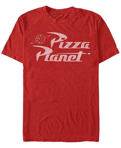 Disney Men's Toy Story Pizza Planet Logo, Short Sleeve T-Shirt