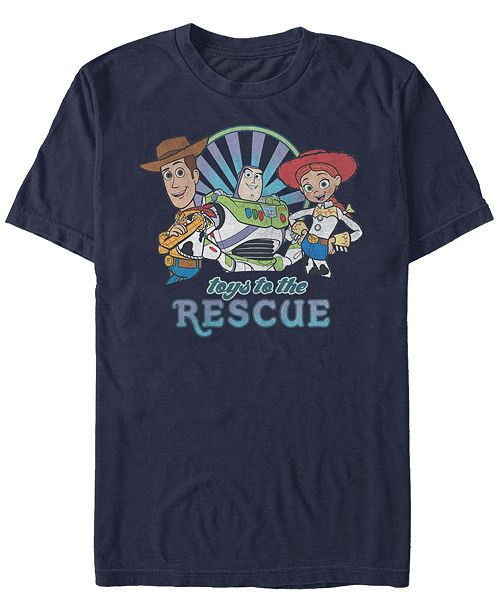 Disney Pixar Men's Toy Story Buzz Woody Jesse Toys to the Rescue, Short Sleeve T-Shirt