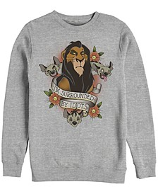 Men's Lion King Scar Surrounded by Idiots Tattoo, Crewneck Fleece