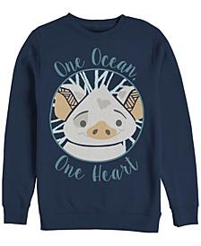 Men's Moana Pua One Ocean One Heart, Crewneck Fleece