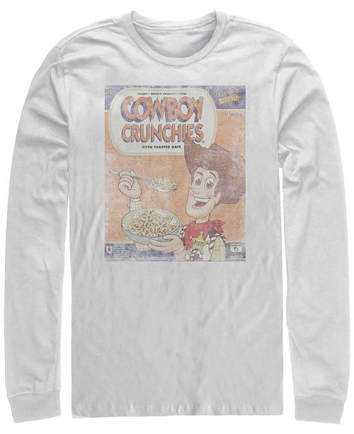 Disney Pixar Men's Toy Story Woody Cowboy Crunchies, Long Sleeve T-Shirt
