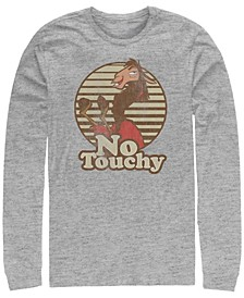Men's Emperor's New Groove Kuzco Llama No Touchy, Long Sleeve T-Shirt