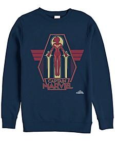 Men's Captain Marvel Take Flight Silhouette, Crewneck Fleece
