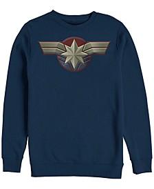 Men's Captain Marvel Chest Logo Costume, Crewneck Fleece