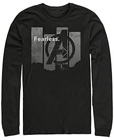 Men's Avengers Endgame Fearless Panel, Long Sleeve T-shirt