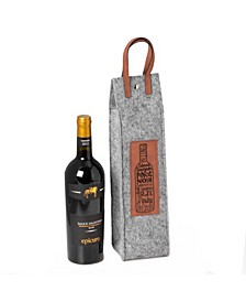 Wines of The World Felt Wine Tote with Accents