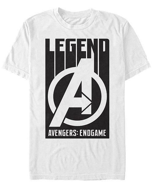 Marvel Men's Avengers Endgame Legend Logo, Short Sleeve T-shirt