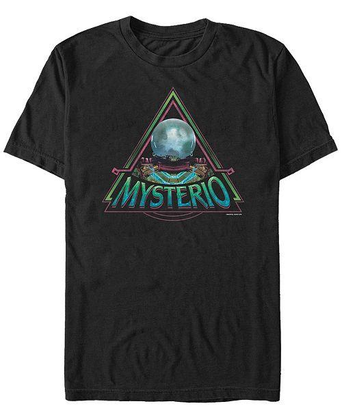 Marvel Men's Spider-Man Far From Home Mysterio Triangle Logo, Short Sleeve T-shirt