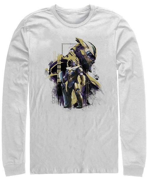 Marvel Men's Avengers Endgame Thanos Mad Titan Side View, Long Sleeve T-shirt