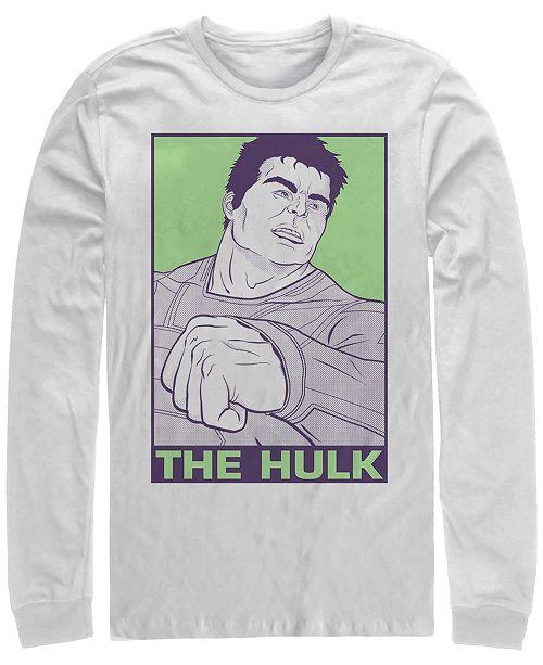 Marvel Men's Avengers Endgame Hulk Pop Art Poster, Long Sleeve T-shirt