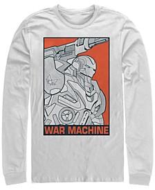 Men's Avengers Endgame War Machine Pop Art Poster, Long Sleeve T-shirt