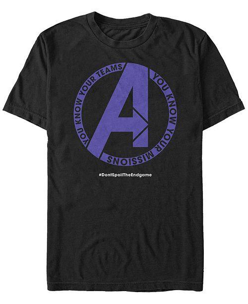 Marvel Men's Avengers Endgame Know Your Mission Chest Logo, Short Sleeve T-shirt