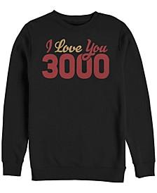 Men's Avengers Endgame I Love You 3000 Text, Crewneck Fleece