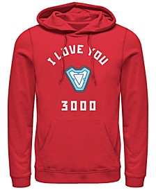 Men's Avengers Endgame Core Reactor I Love You 3000, Pullover Hoodie