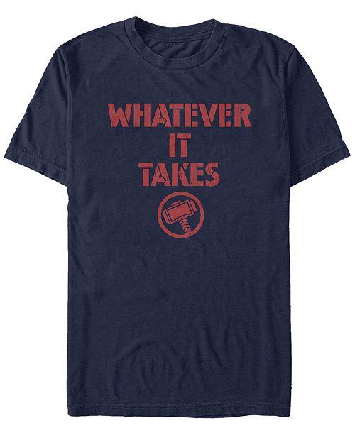 Marvel Men's Avengers Endgame Whatever It Takes Thor Logo, Short Sleeve T-shirt